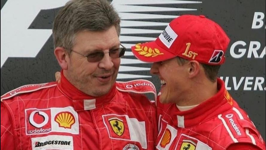 """Schumacher, Brawn parla di """"segnali incoraggianti"""" di recupero"""