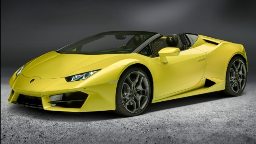 Lamborghini Huracan RWD Spyder, la trazione posteriore si scopre