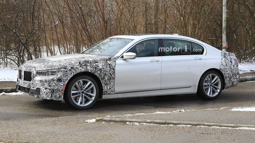 Bmw 7 Series Facelift Spied Hiding Bigger Front Grille Update