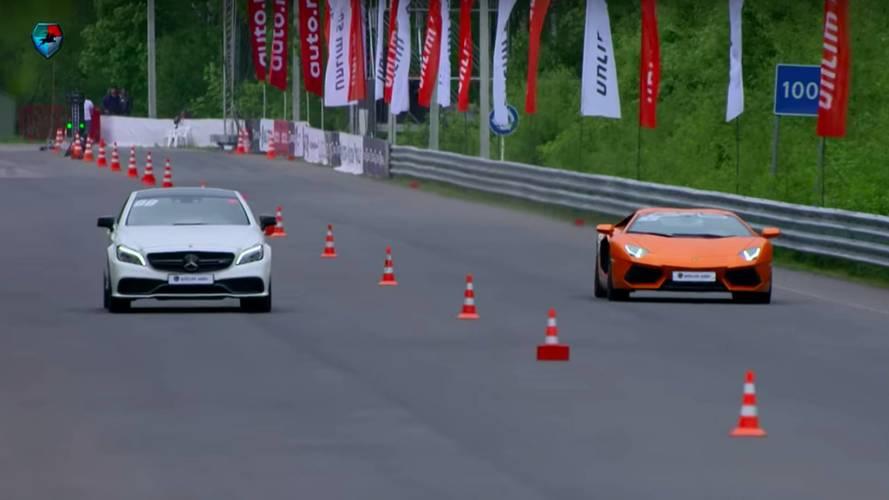 Lamborghini Aventador, Mercedes-AMG E55 ve CLS 63'e karşı