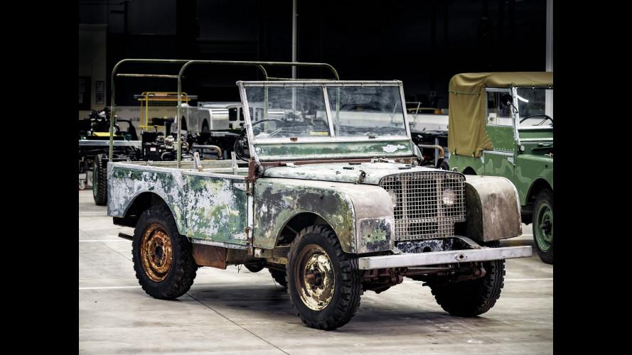 Land Rover, il restauro della prima per il 70° anniversario