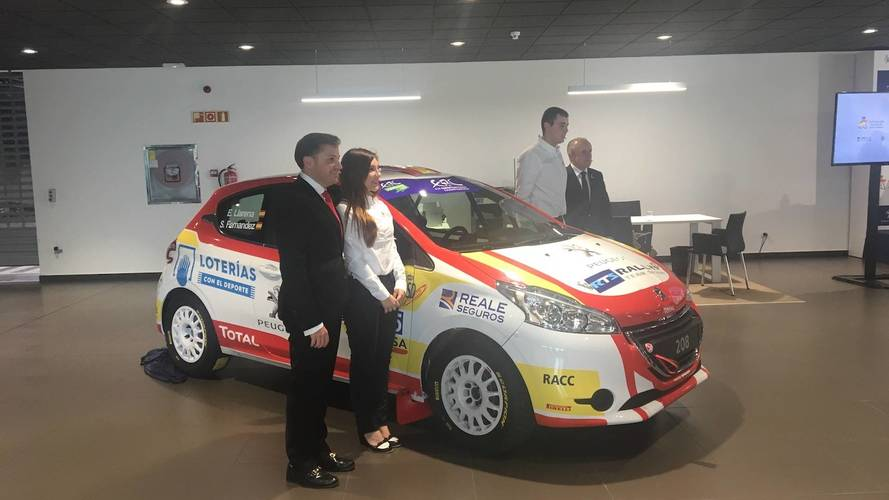 Presentación del Peugeot Rally Team Spain ERC U27