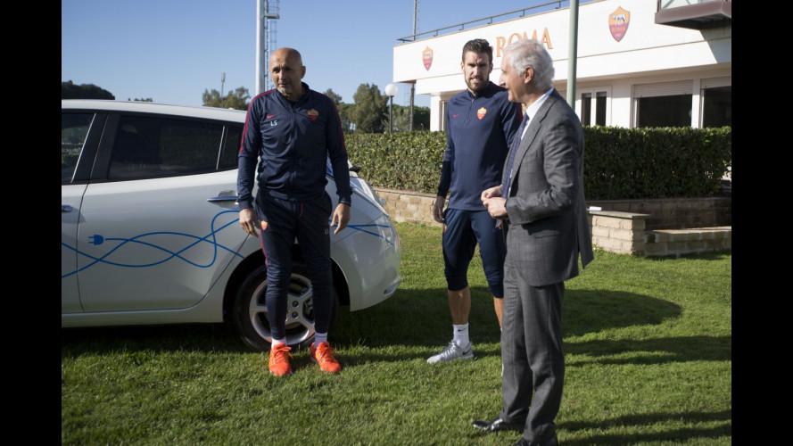 Nissan e AS Roma, un accordo per la mobilità sostenibile