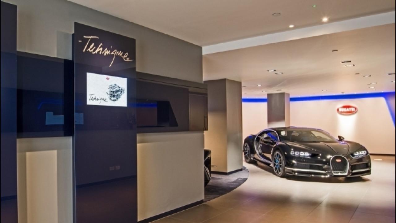 [Copertina] - Bugatti Chiron, a Londra uno showroom senza precedenti