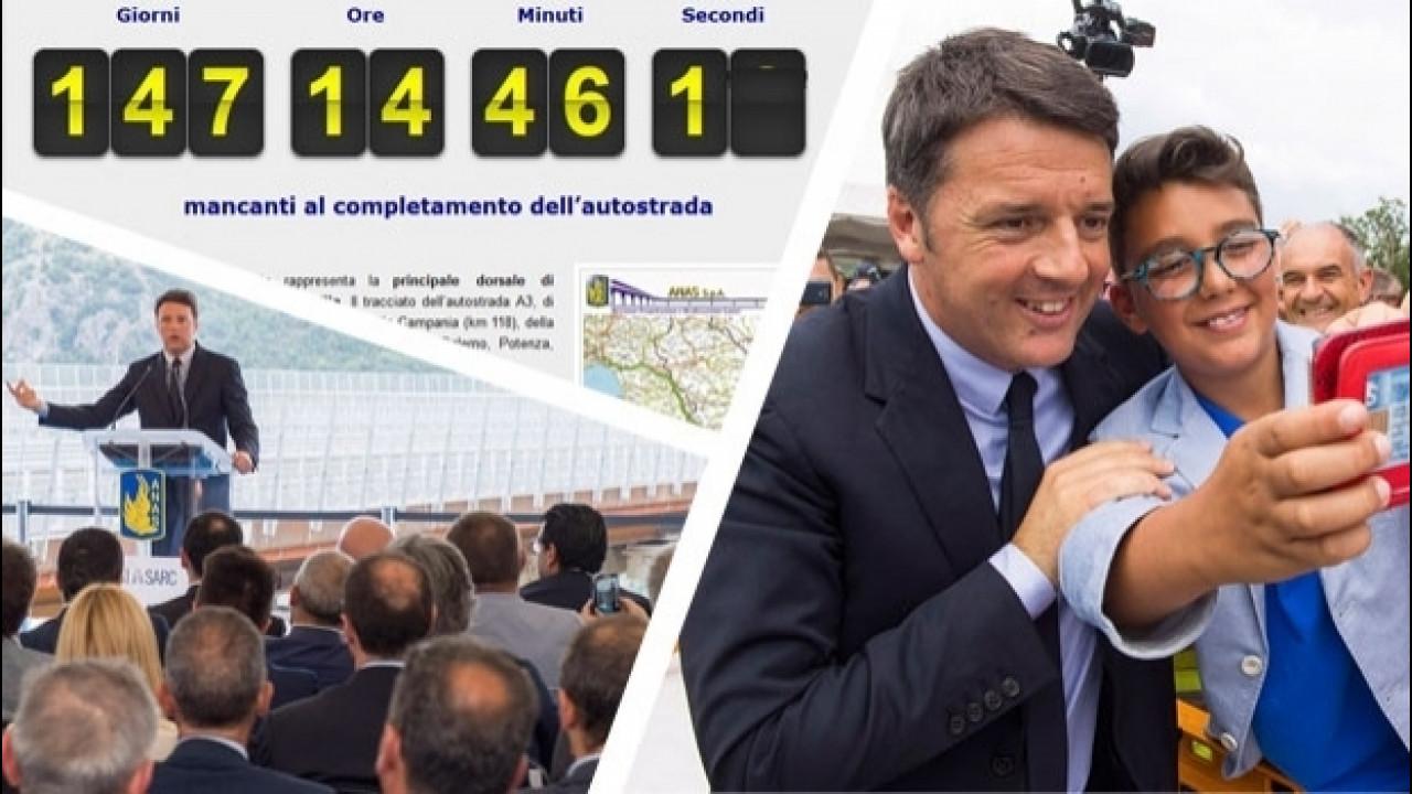 [Copertina] - Salerno Reggio Calabria, Renzi avvia il conto alla rovescia
