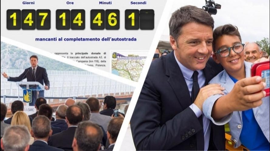 Salerno Reggio Calabria, Renzi avvia il conto alla rovescia