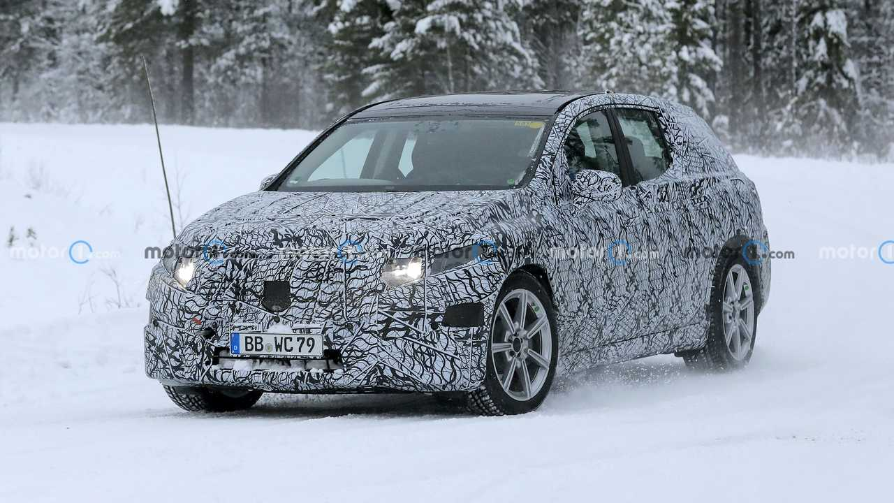 Mercedes EQS SUV Spied On Snow