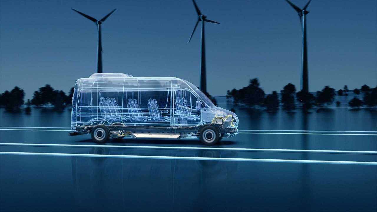Новое поколение электрического фургона  Mercedes-Benz eSprinter