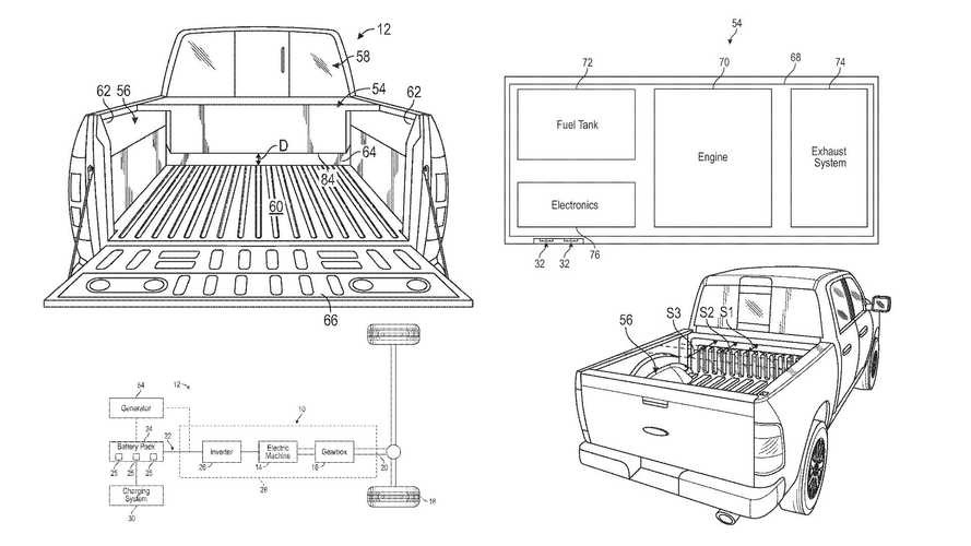 Patents Show Ford F-150 Electric Pickup Truck May Conceal A Gas Engine