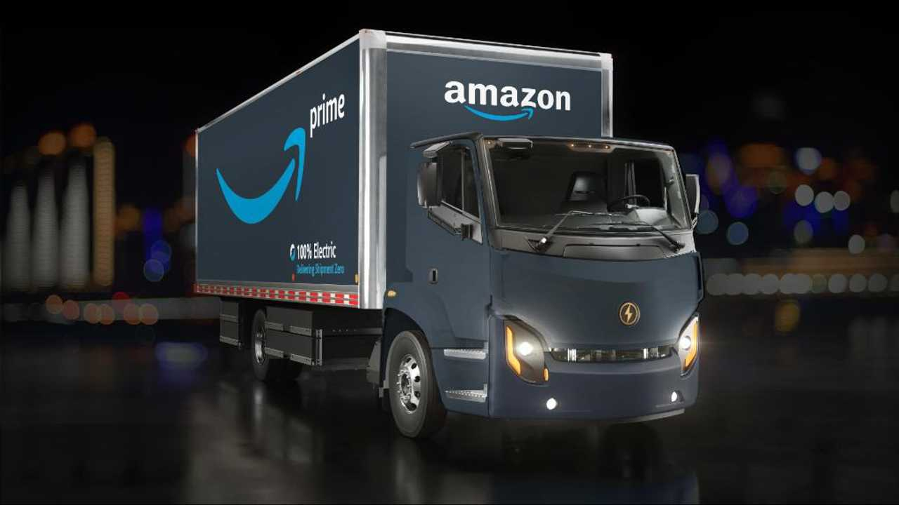 Lion Electric truck in Amazon fleet