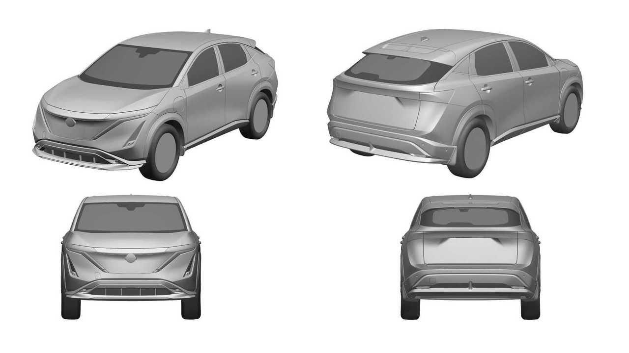 Патентные изображения Nissan Ariya для России