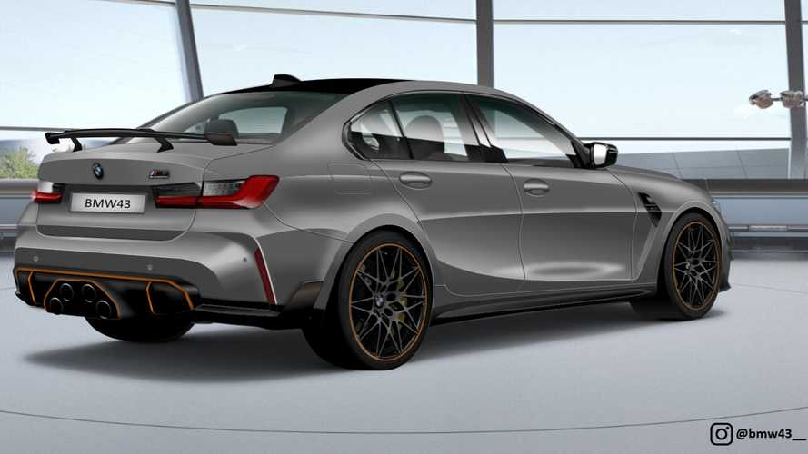 BMW M3 With Wild Center Quad Exhaust Rendered Based On Spy Shot