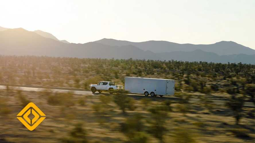 Rivian R1T Electric Pickup Truck Shows It Can Tow In Hot Weather Testing Video