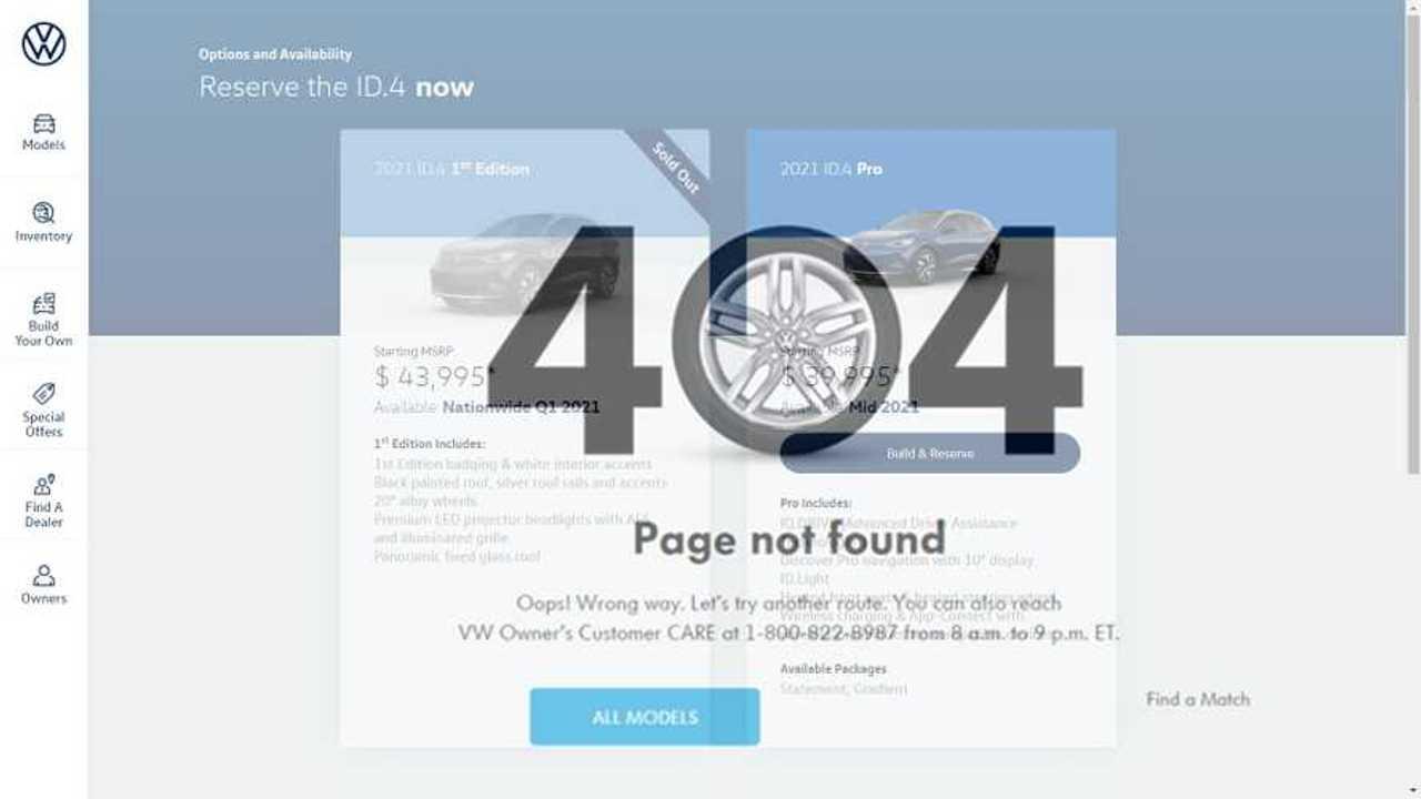 ID.4 Buyers In The US Crash Volkswagen's Reservation Website