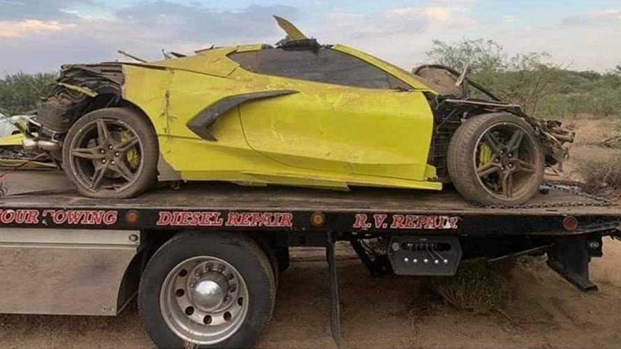 A felismerhetetlenségig lezúztak egy vadonatúj Chevrolet Corvette C8-at