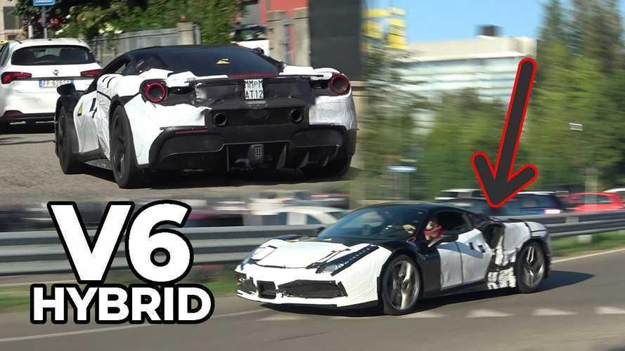 Ferrari Hybrid Prototypes Spied Hiding Under Familiar Clothes