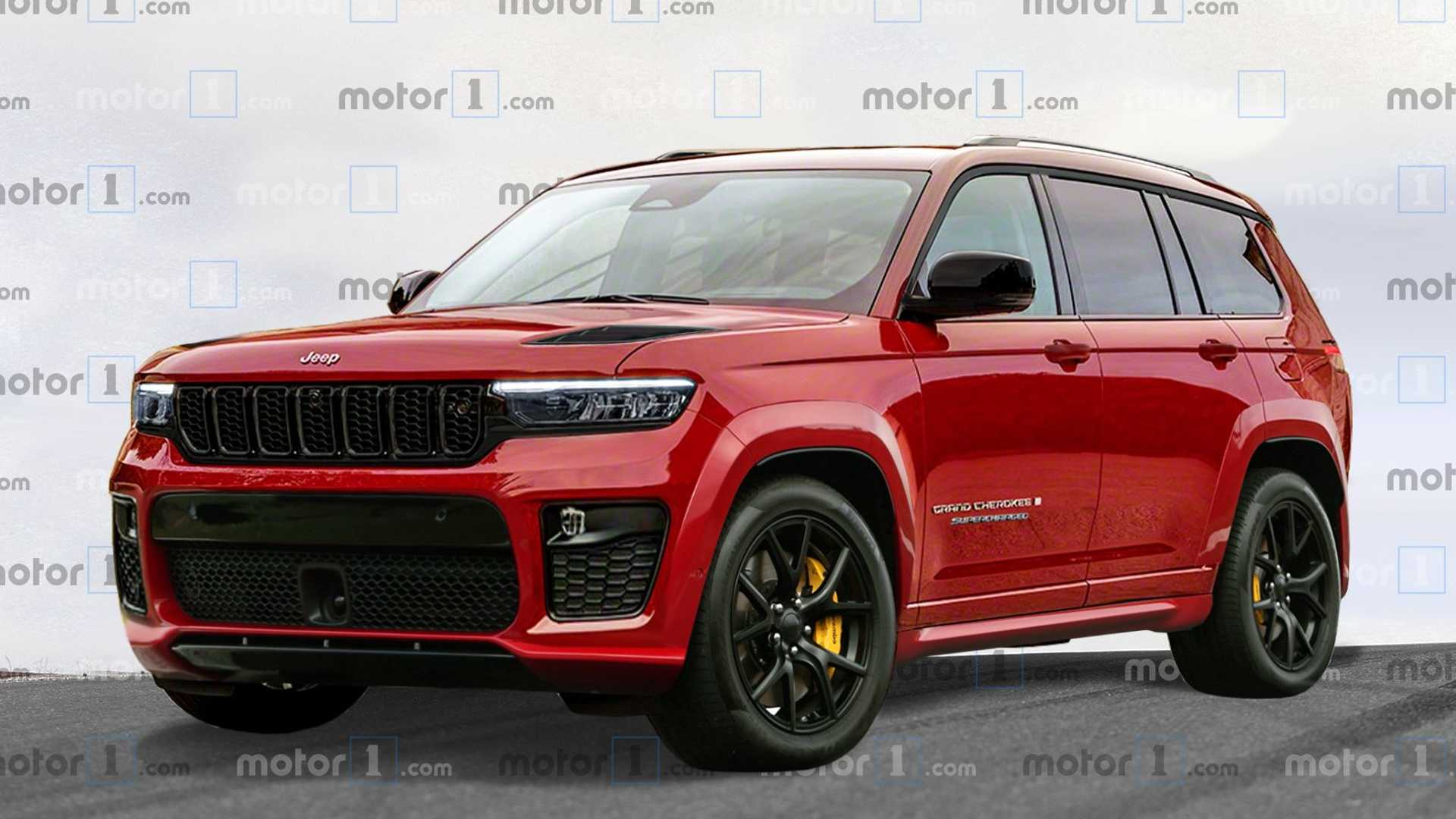 Jeep Grand Cherokee L Trackhawk Unofficially Rendered As 3 Row Super Suv