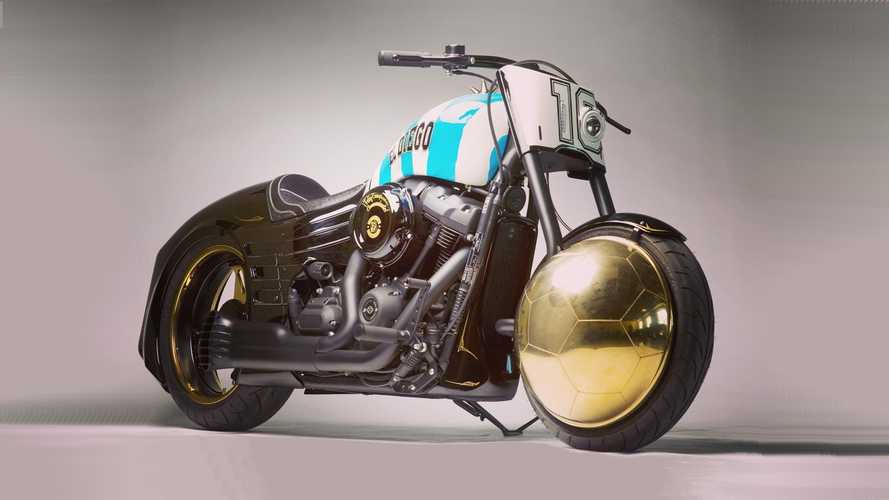 This bespoke Harley-Davidson Fat Bob was built for Diego Maradona
