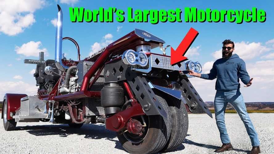 Here's What It's Like Driving The Largest Motorcycle In The World