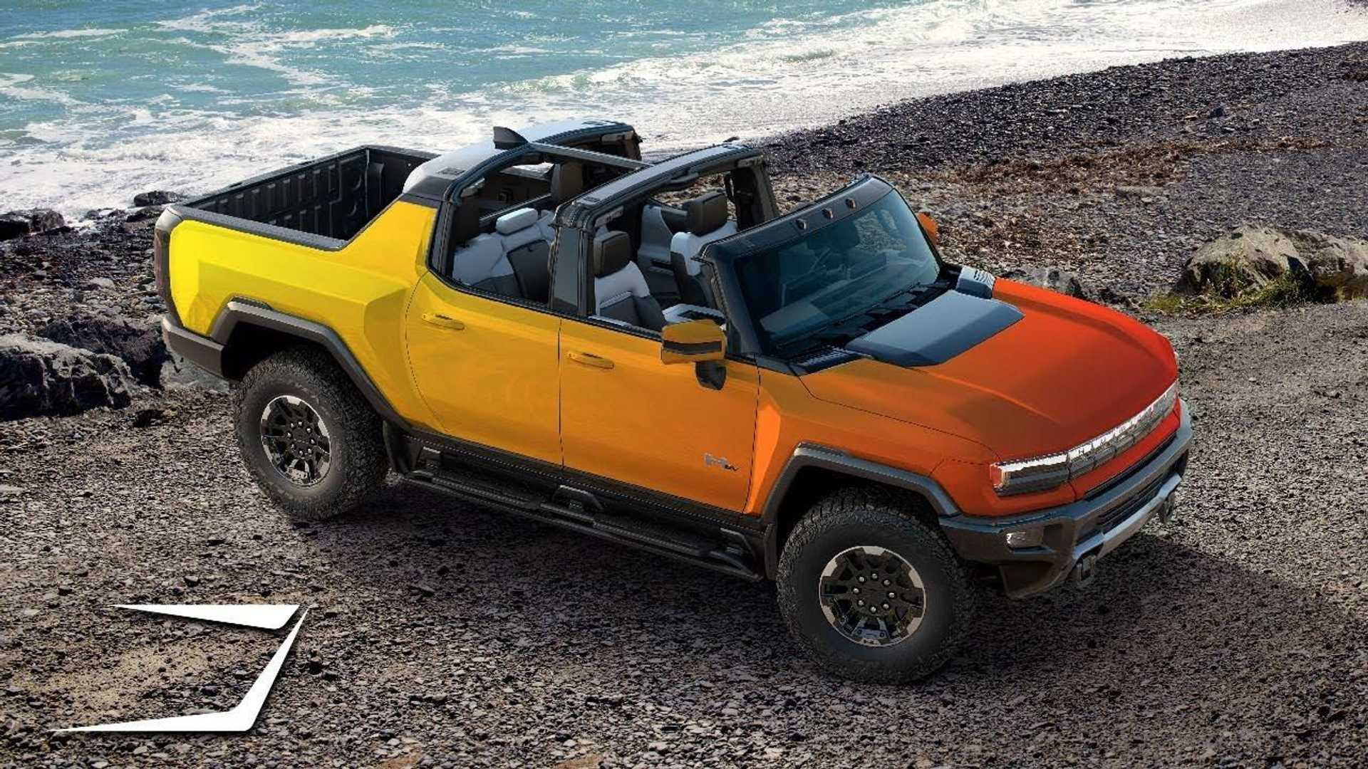 GMC Hummer Electric Pickup Truck Rendered In New Colors