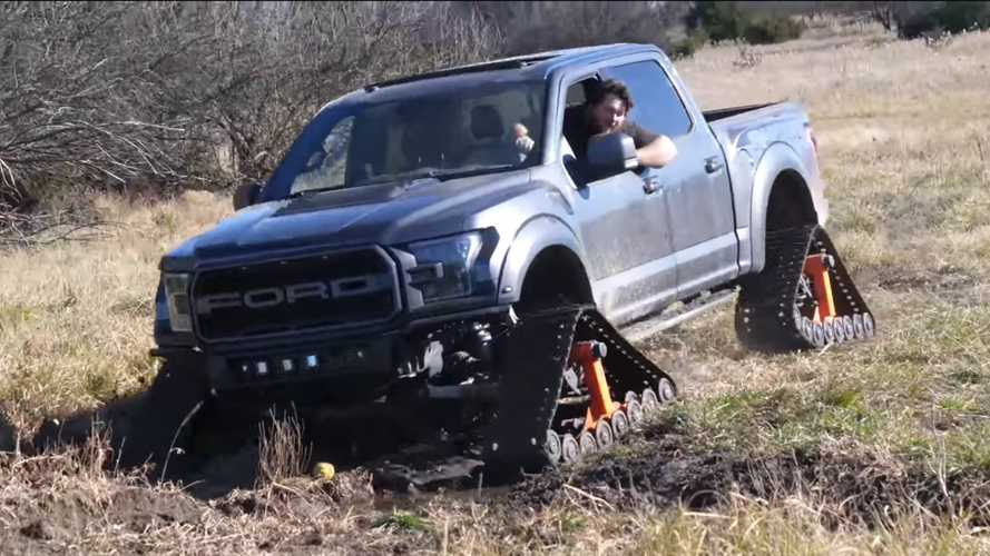 See A Ford F-150 Raptor Gain More Capability With Tank Tracks