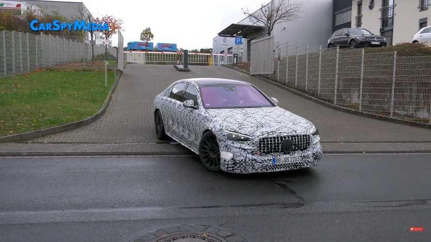 Новый гибрид Mercedes-AMG S 63e сняли на видео на Нюрбургринге