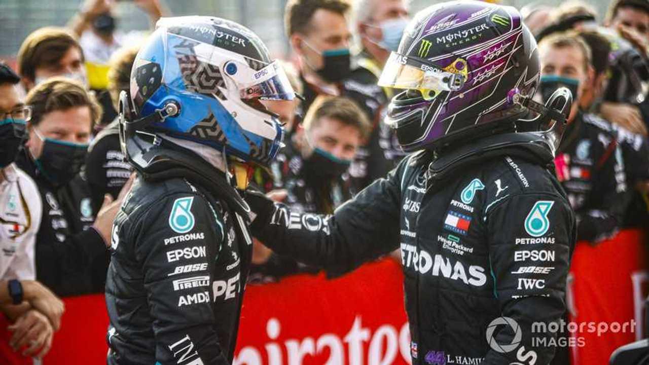 Valtteri Bottas and Lewis Hamilton at Emilia-Romagna GP 2020