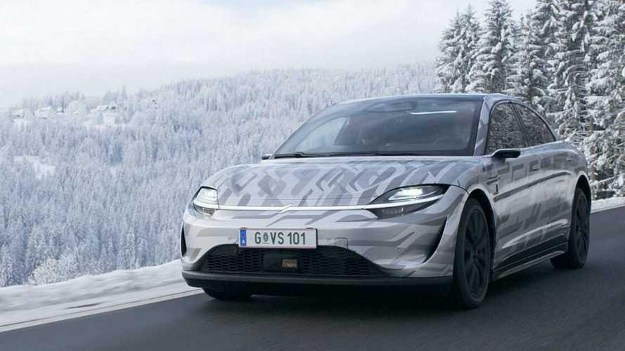 L'auto elettrica di Sony si farà, e ora fa i test nella neve
