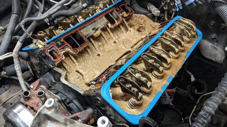 Watch the oil pour out of this engine like peanut butter