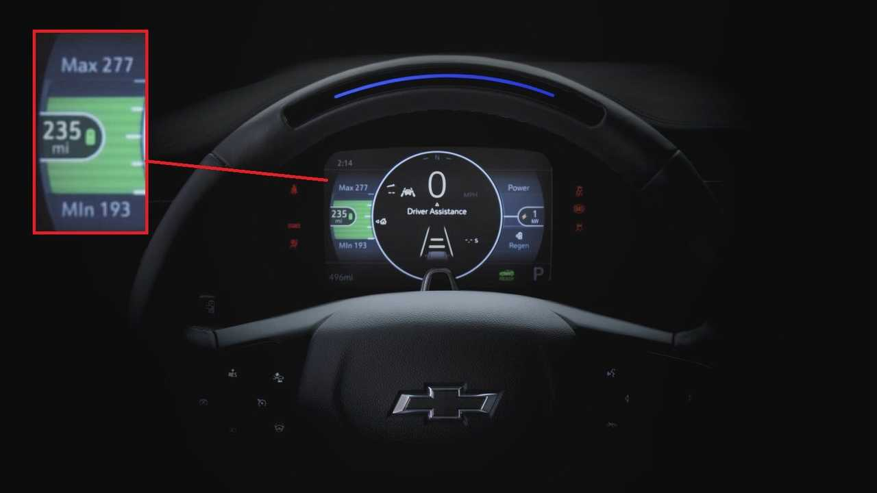 2022 Chevrolet Bolt EUV - Preview of the steering wheel