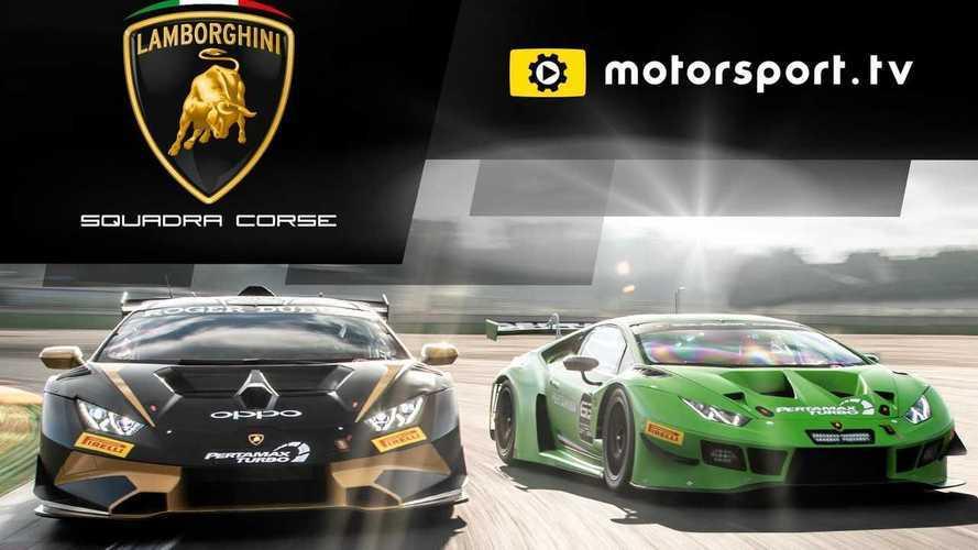 Lamborghini Squadra Corse, Motorsport.tv'de özel kanalına kavuştu