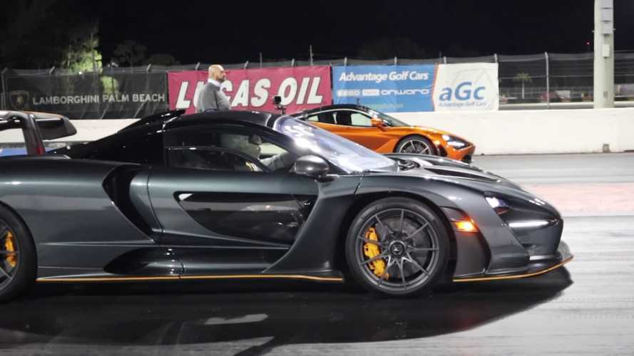 Watch McLaren Senna finally drag race 720S in ultimate family feud