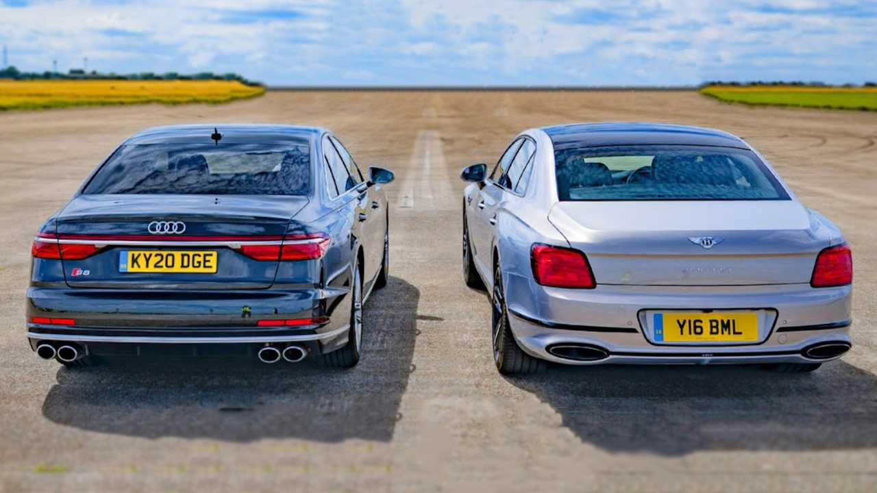 Audi S8 vs Bentley Flying Spur Drag Race