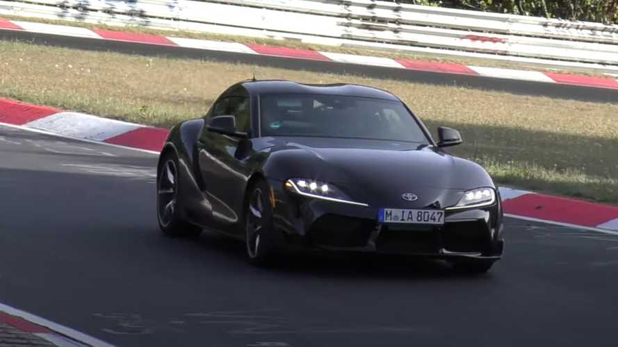 Toyota Supra spotted testing at the 'Ring with a different engine?