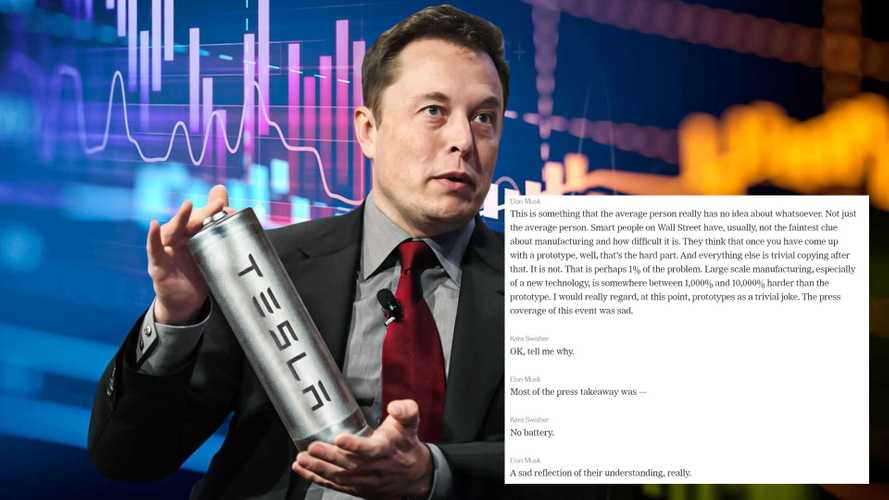 Elon Musk Blocks Media At Tesla Battery Day, Says Coverage Was Sad