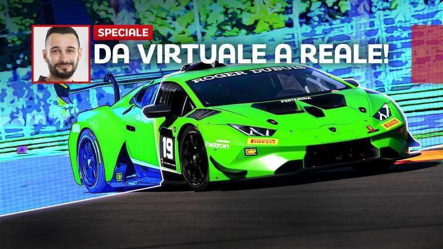 Dal virtuale al reale, un giorno da piloti Lamborghini