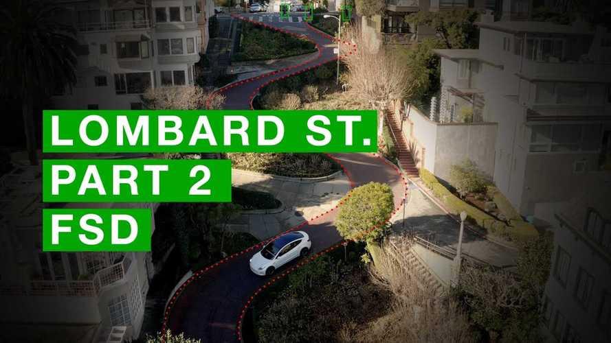 Full Self-Driving Tesla Model 3 Returns To Lombard Street In SF