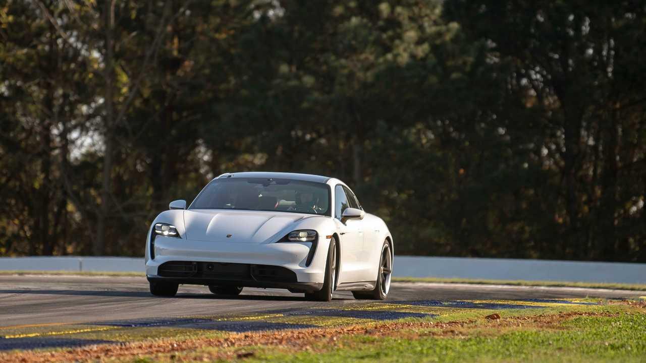 Porsche Taycan Turbo S at the Michelin Raceway Road Atlanta