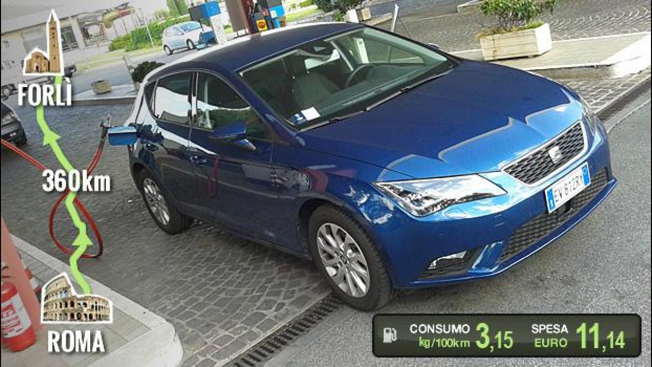 [Copertina] - Seat Leon 1.4 TGI, la prova dei consumi