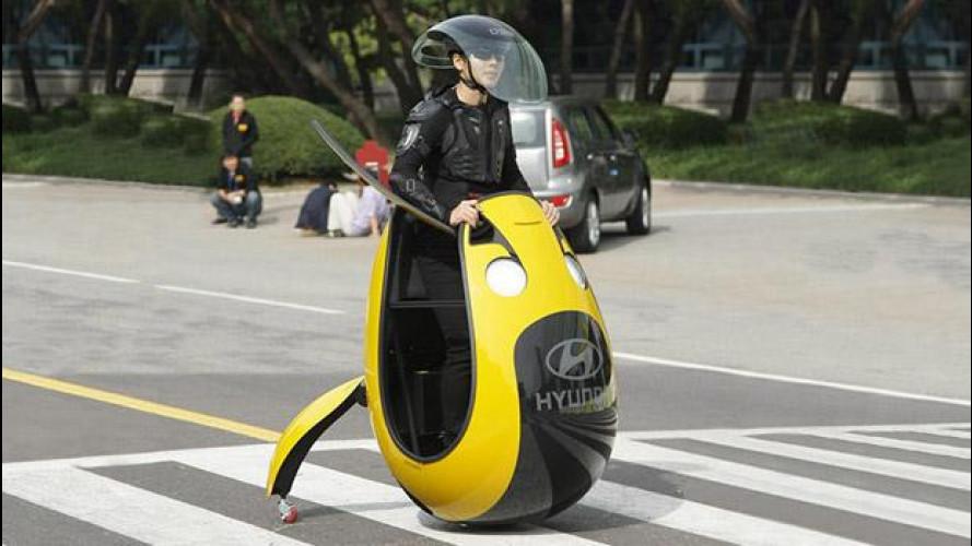 Hyundai E4U Concept, l'elettrica a uovo