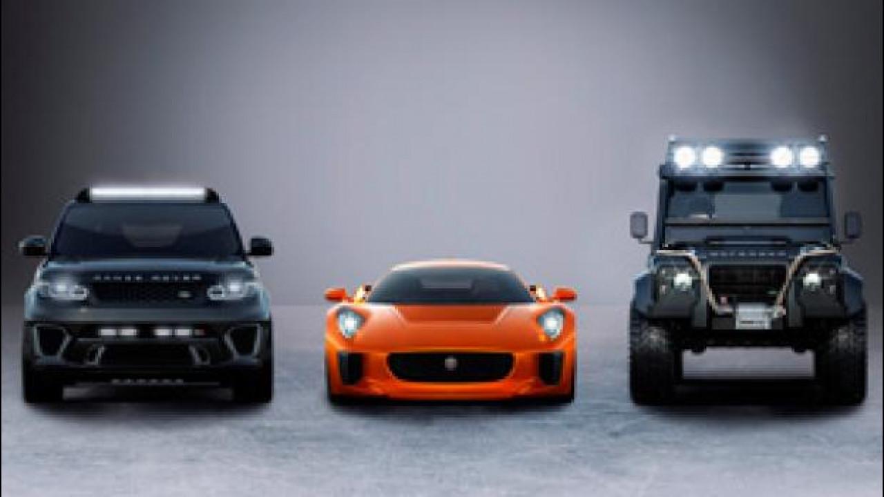 "[Copertina] - James Bond in ""Spectre"" guida Jaguar e Land Rover speciali"