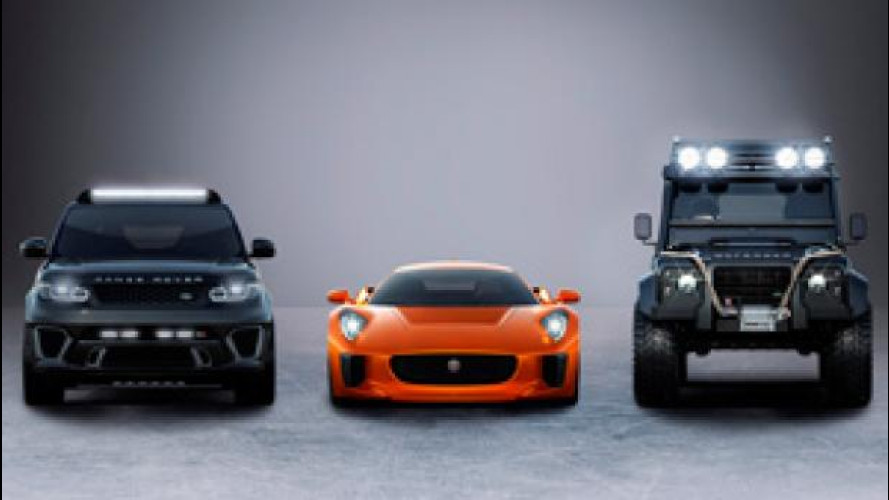 "James Bond in ""Spectre"" guida Jaguar e Land Rover speciali"