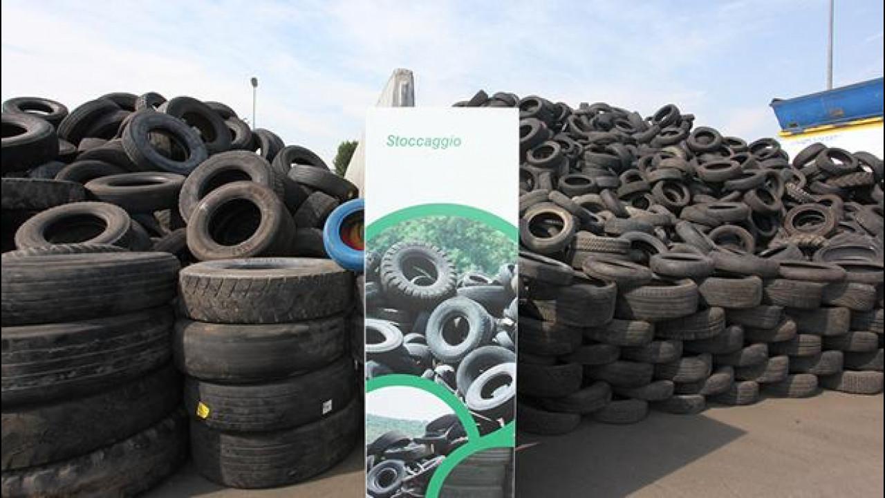 [Copertina] - Gomme usate: nel 2012 riciclate oltre 240.000 tonnellate