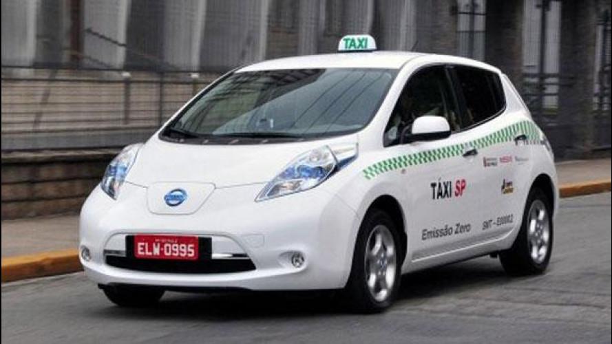 Nissan do Brasil arruola la Leaf per fare da taxi a San Paolo