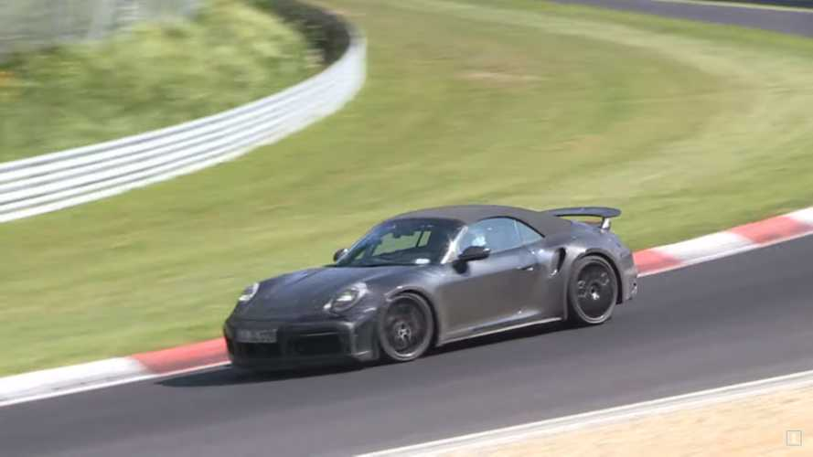 Porsche 911 Turbo Cabrio Prototype Spied Blitzing The Nürburgring