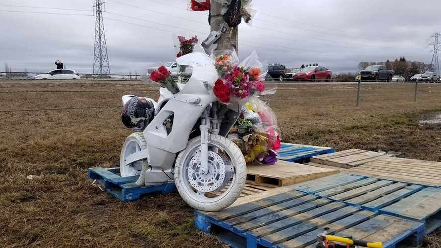 Fallen Rider Honored With Ghost Bike