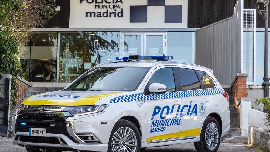 Mitsubishi Outlander PHEV 2019, 23 unidades para la policía de Madrid
