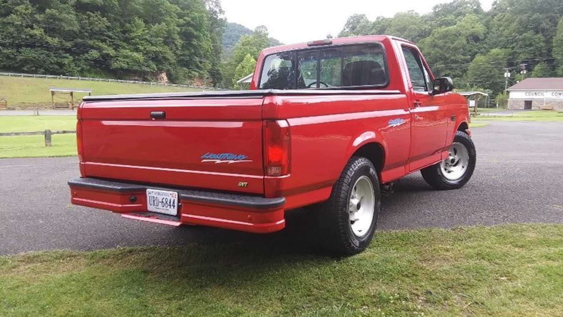 Red Hot 1994 Ford F 150 Svt Lightning Hits The Auction Block Motorious