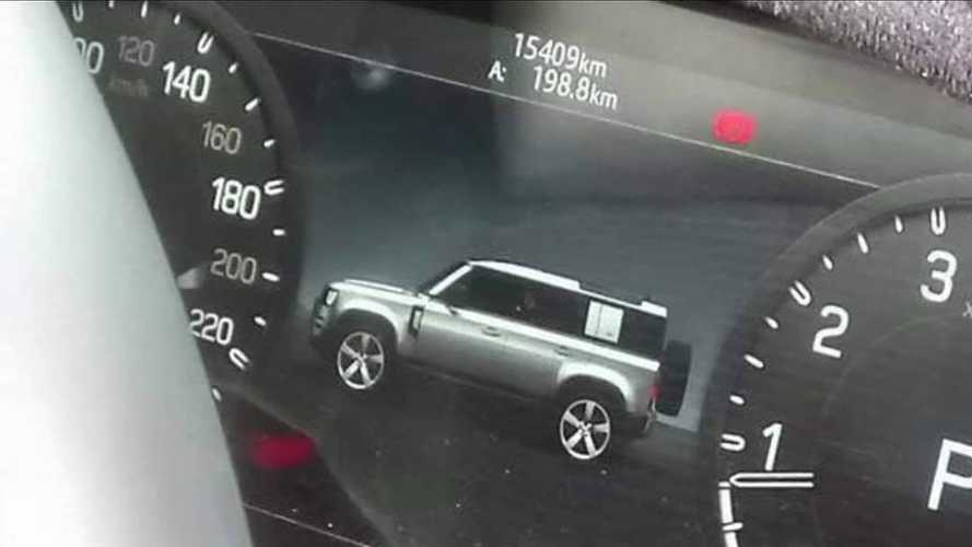 New Defender profile leaks via its own instrument cluster