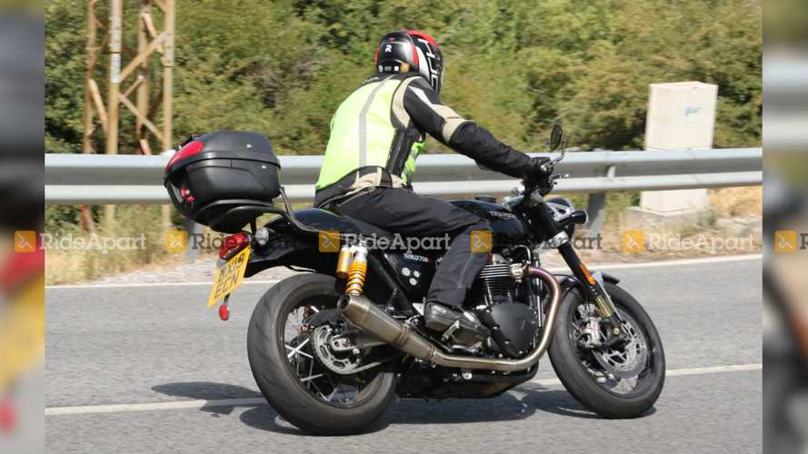 Triumph Thruxton R Black Spy Shots